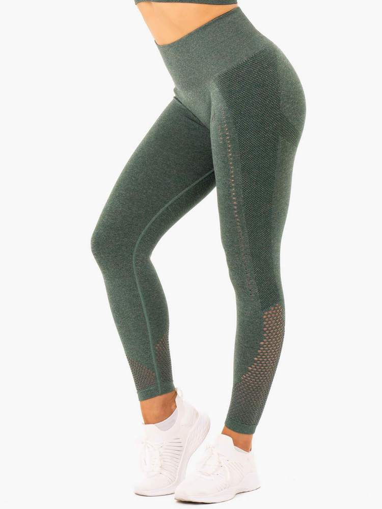 Ryderwear Staples Seamless Sports Tights - Forest Green