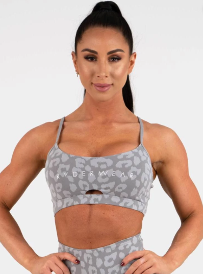 Ryderwear Animal Instincts Sports Bra - Grey Leopard