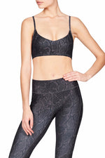 Vie Active Mia Sports Bra - Black Python