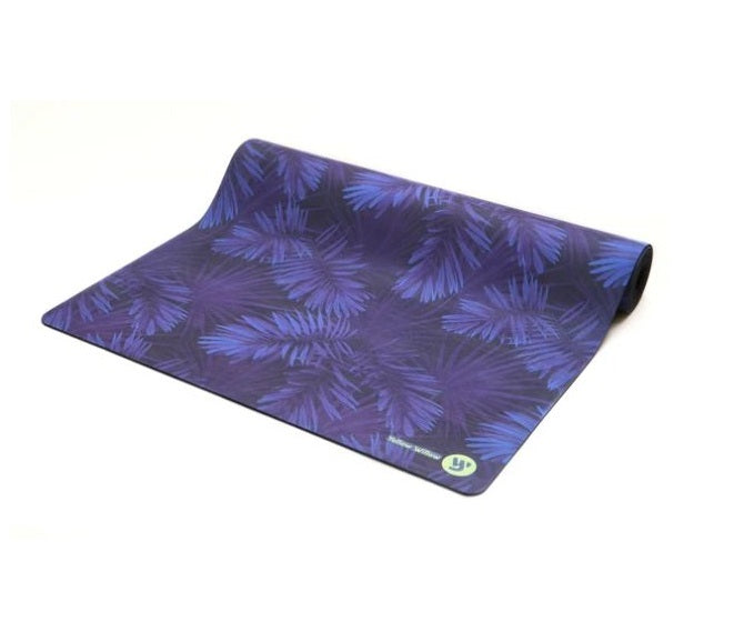Yellow Willow Unisex Print Yoga Mat: Midnight Palm