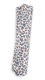 Yellow Willow Blush Leopard Yoga Mat