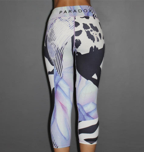 Paradox Floral Patchwork 3/4 Sports Tights