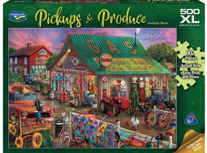 Holdson Pickups & Produce Antique Barn  500pc XL Puzzle