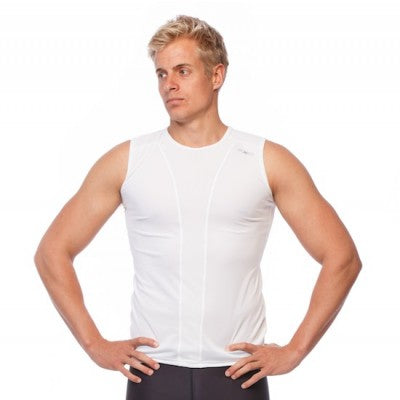 SIX30 Men's Pro Compression Tank - White