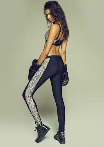 Lace Contrast Sports Leggings