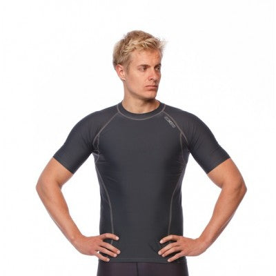SIX30 Men's Core Short Sleeve Compression Top - Charcoal