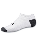 Champion Mens C Logo No Show Socks - 3 Pack (White)