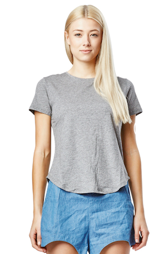 Casa Kuma Saddle Hem Tee - Grey