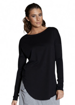 Casa Kuma Saddle Long Sleeve Tee - Black