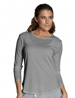 Casa Kuma Long Sleeve Saddle Hem Tee - Grey