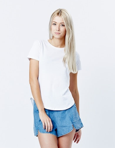 Casa Kuma Saddle Hem Tee - White