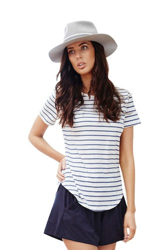 Casa Kuma Saddle Hem Tee - Stripe