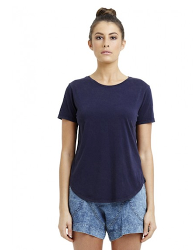 Casa Kuma Saddle Hem Tee - Midnight