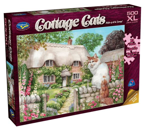 Holdson Cottage Cats Master Of All He Surveys  500pc XL Puzzle