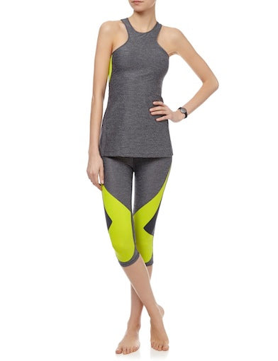 Charli Cohen Aerial Tank - Lime Grey
