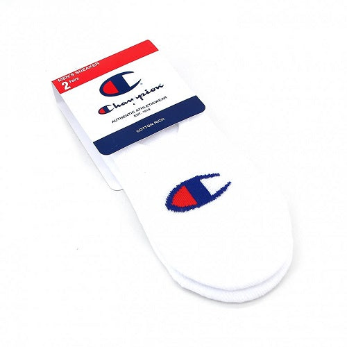 Champion Mens C Logo Sneaker Socks - 2 Pack