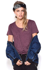 This Is First Base Basic Tee - Washed Purple