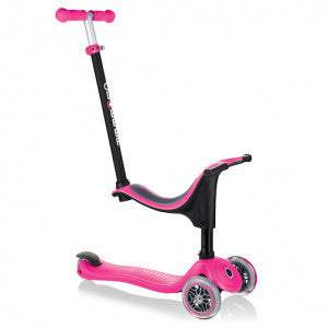 Globber Go Up Sporty 4 in 1 Scooter - Deep Pink