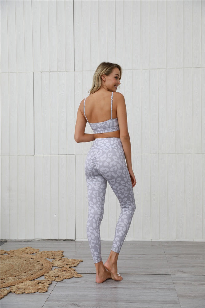Grey Animal Sports Tights