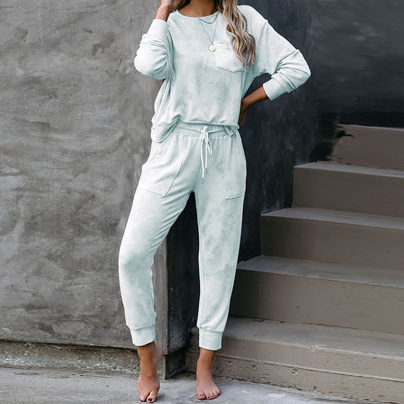 Tie Dye Sweater & Pant Lounge Set