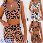 Leopard Lover Crop & Tights Set