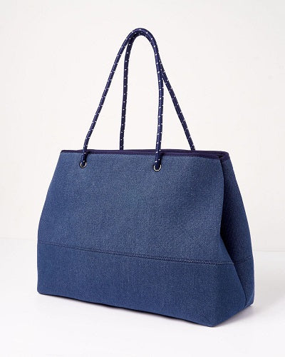 Miz Casa & Co IVY NEOPRENE TOTE BAG BLUE - DENIM