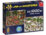 Jumbo Jvh Christmas Gifts 2 X 1000pc Puzzle