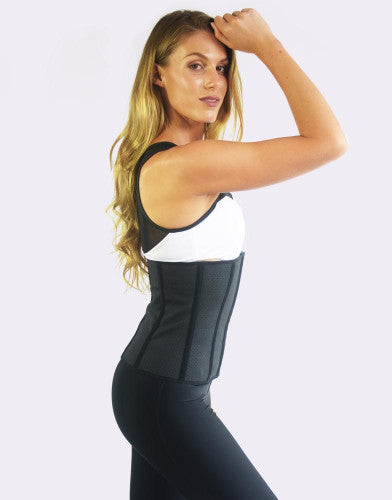 LATEX EVERYDAY BREATHABLE WAIST TRAINER - BLACK