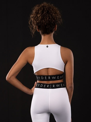 Ryderwear Limited Edition Block Banded Sports Crop - White