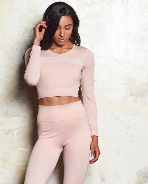 Milla Seamless Long Sleeve Crop - 2 Colours