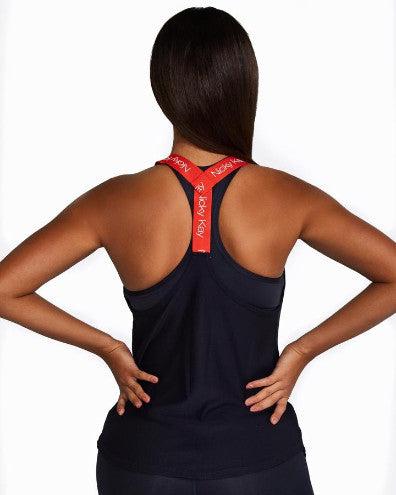 Nicky Kay Mesh Singlet - Navy/Red