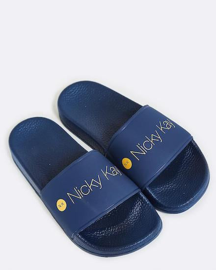 Nicky Kay Navy Blue Slides