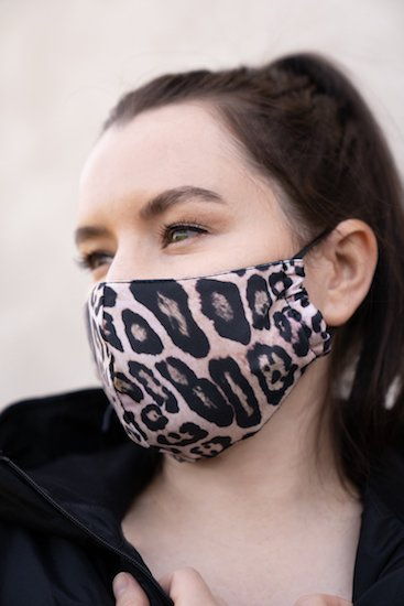 Onzie Mindful Face Mask - Leopard/Black