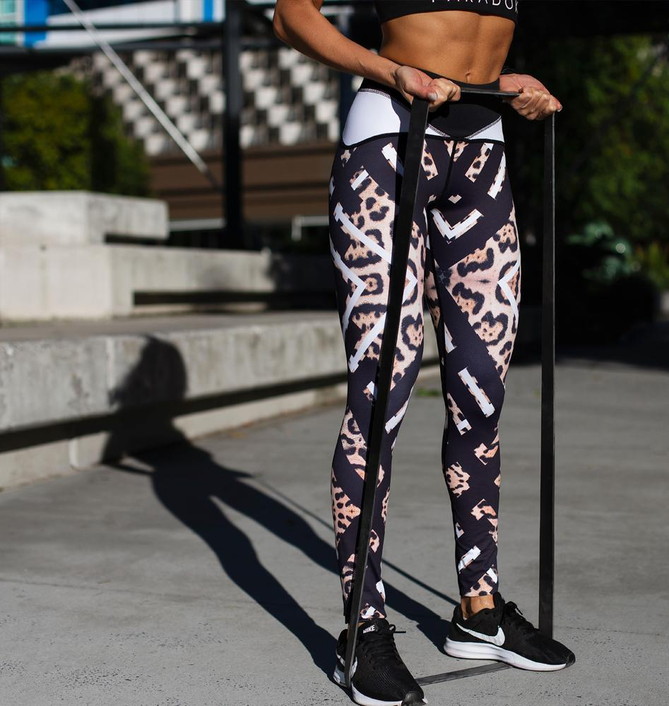 Paradox Geo Reflect Leopard Sports Tights