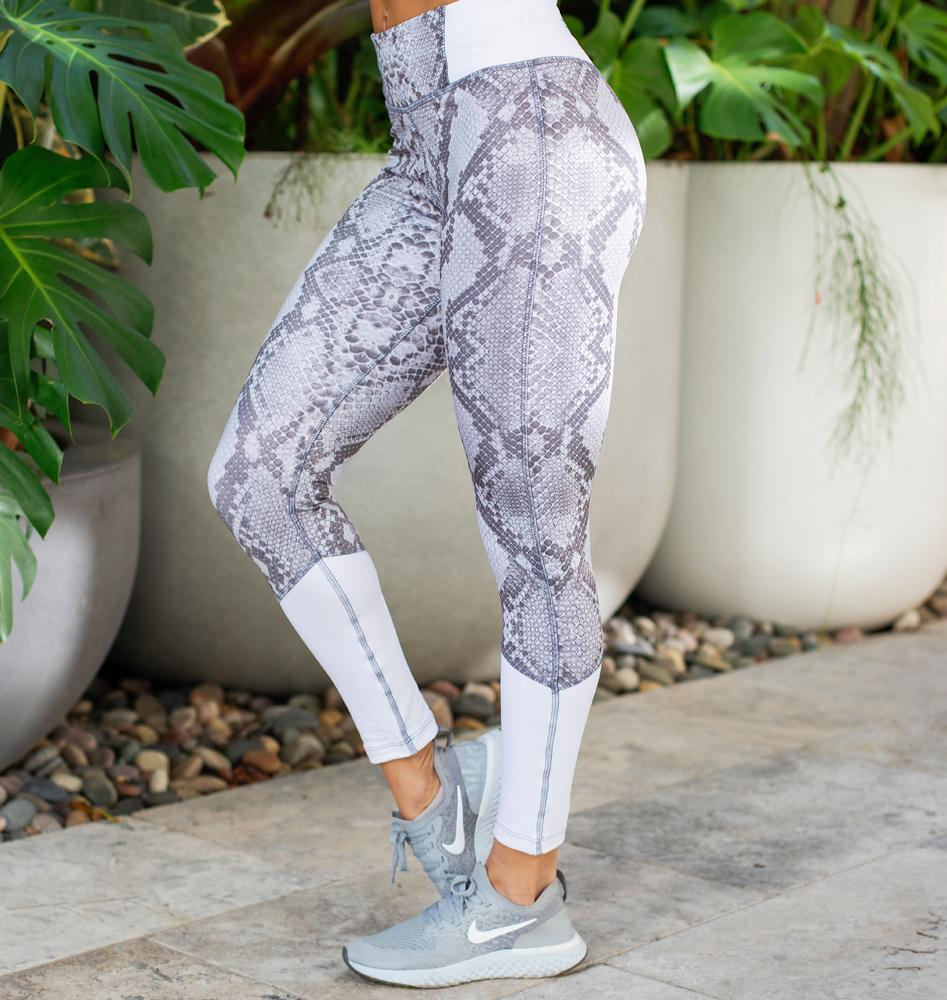 Paradox Subtle Snake Print Sports Tights
