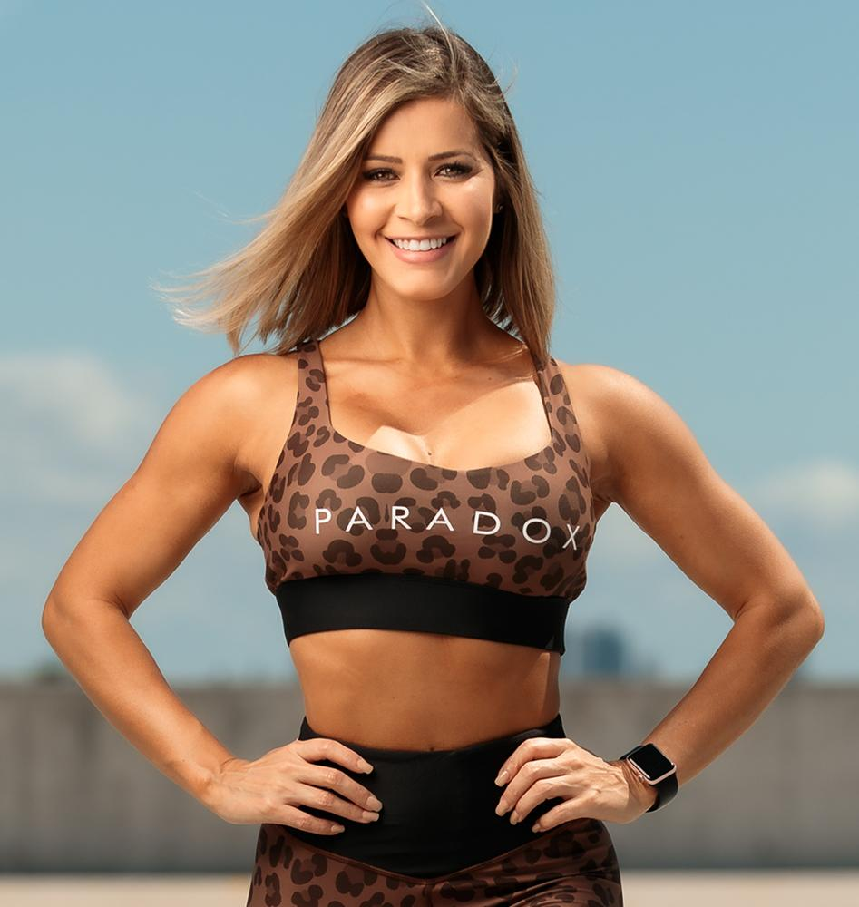 Paradox Chocolate Leopard Sports Bra