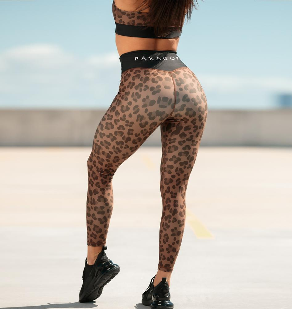 Paradox Chocolate Leopard Sports Tights
