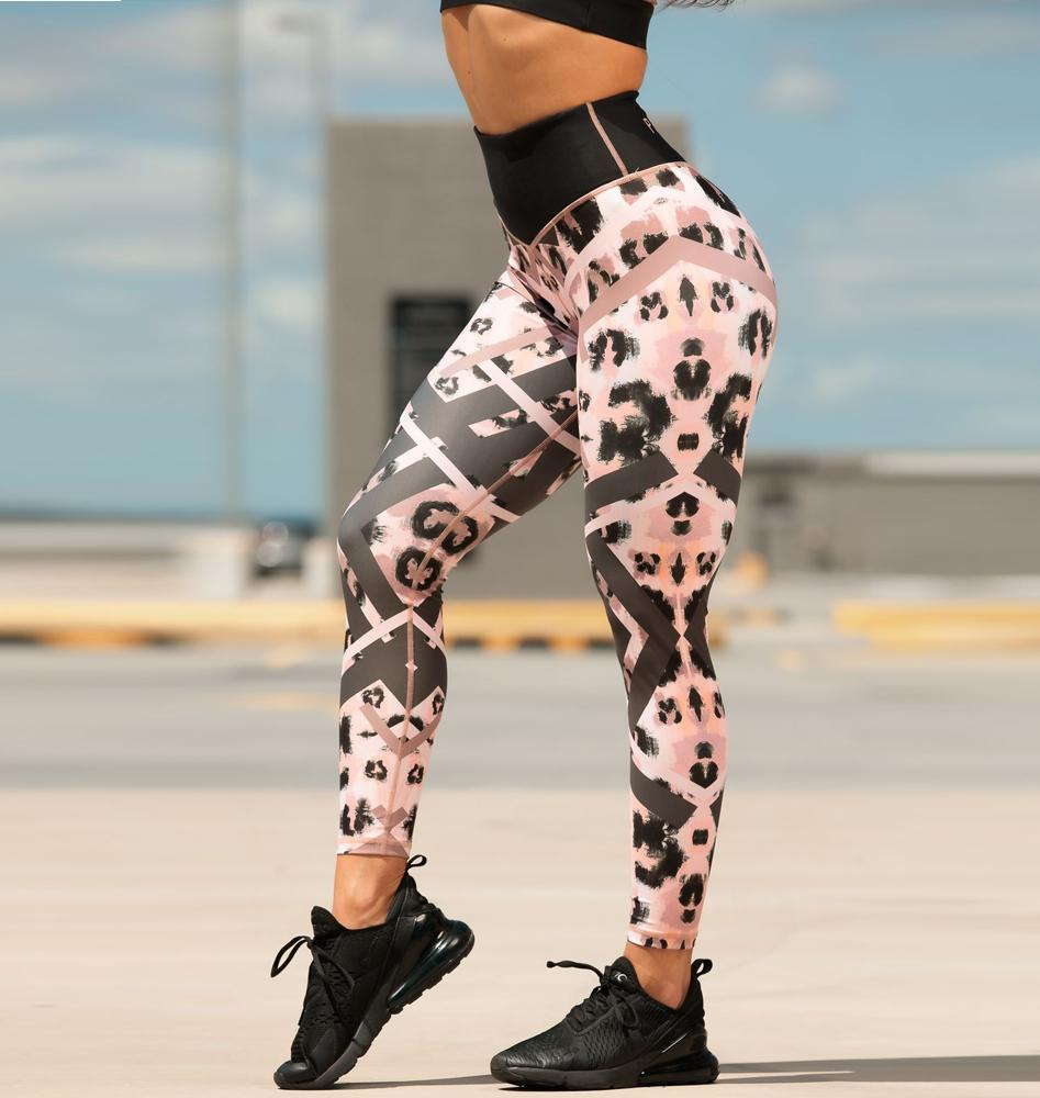 Paradox Painted Diamond Leopard Sports Tights