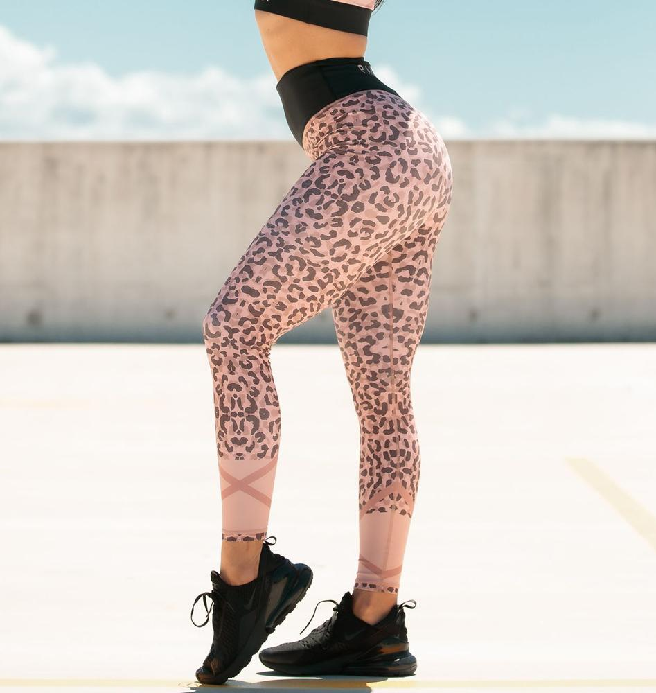 Paradox Rose Pink Animal Sports Tights