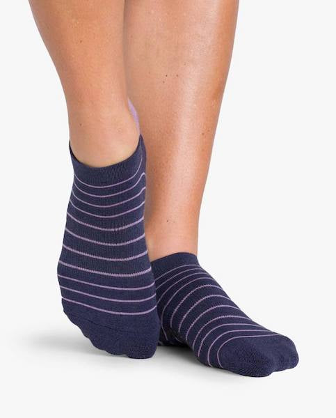 Pointe Studio Donna Grip Socks - Navy/Purple
