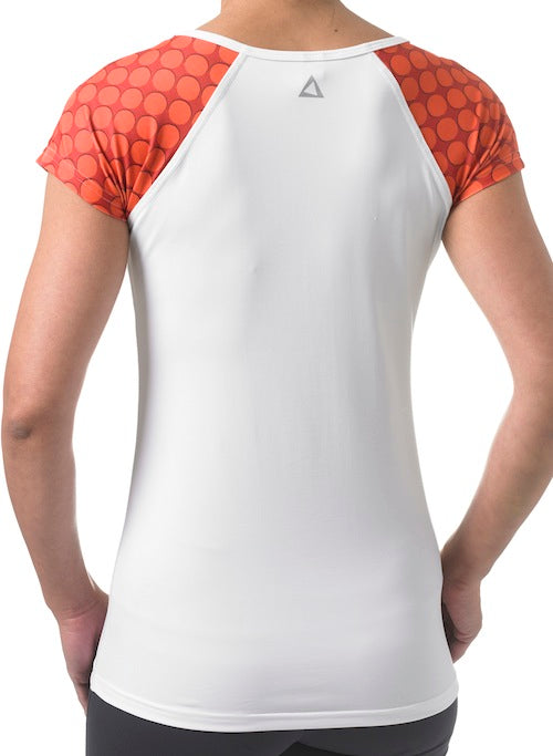 Short Sleeve Sports Top - White