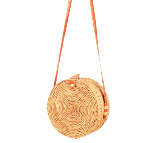 HOT DEAL: Rattan Circle Shoulder Bag