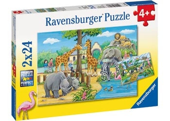 Ravensburger Welcome To The Zoo Puzzle 2x24pc