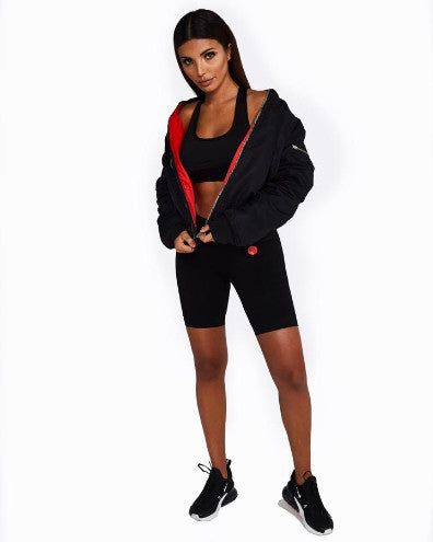 Nicky Kay Reversible Bomber Jacket - Black/Red
