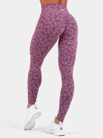 Ryderwear Animal Instincts Scrunch Bum Leggings - Purple Leopard