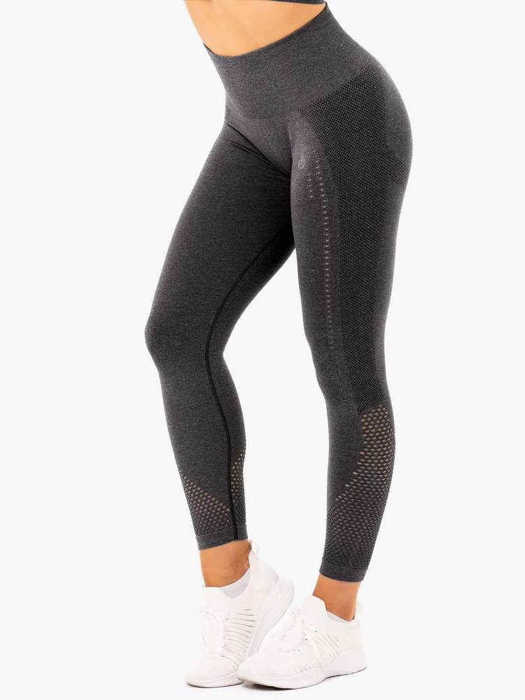 Ryderwear Staples Seamless Sports Tights - Charcoal Marle