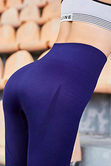 Seamless Sports Tights - Blue