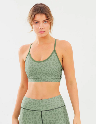 SIX30 Army Leopard Sports Bra