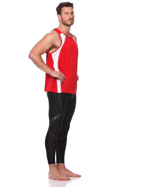 Men's Running Singlet - Red