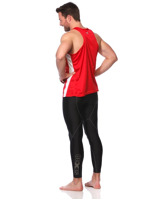 SIX30 Men's Running Singlet - Red